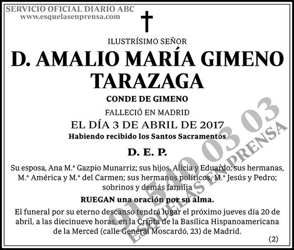 Amalio María Gimeno Tarazaga